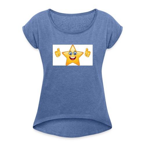 star-smiley-234 - Maglietta da donna con risvolti