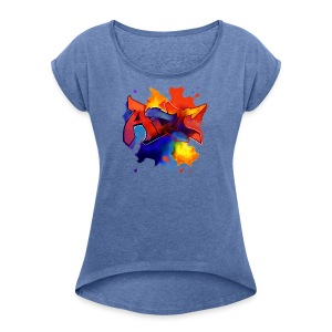 Art graffiti Style - Women's T-shirt with rolled up sleeves