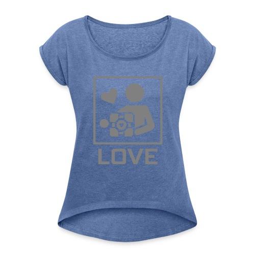 SPREADSHIRT_PORTAL_CUBE_LOVE - Maglietta da donna con risvolti