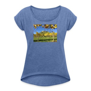 Staufen Castle - Women's T-shirt with rolled up sleeves