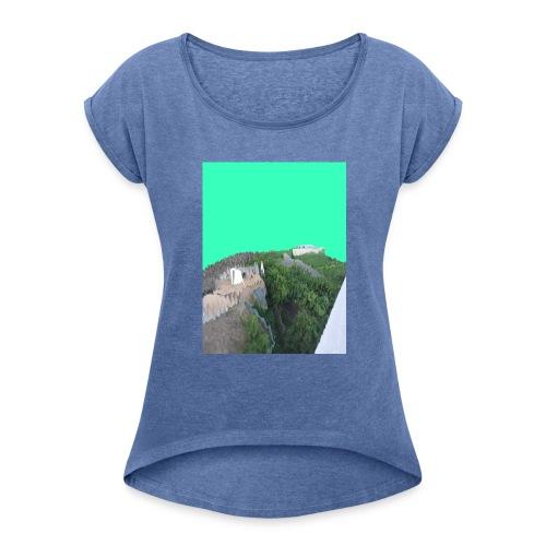 Köln Glitch - Frauen T-Shirt mit gerollten Ärmeln