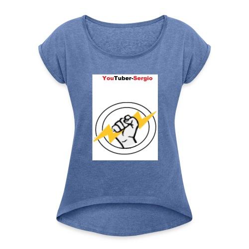 Y.T.S Artikel - Frauen T-Shirt mit gerollten Ärmeln