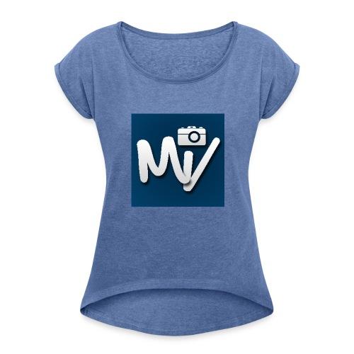 Maxvlogs T-shirt - Vrouwen T-shirt met opgerolde mouwen