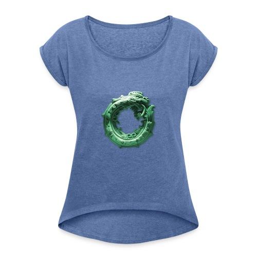 Quetzalcóatl - Camiseta con manga enrollada mujer