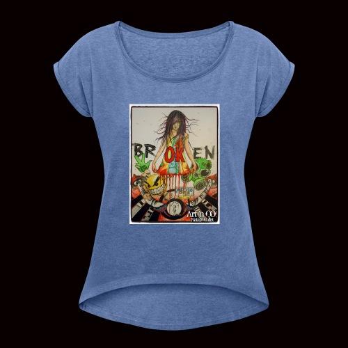 BrOKen - T-shirt à manches retroussées Femme