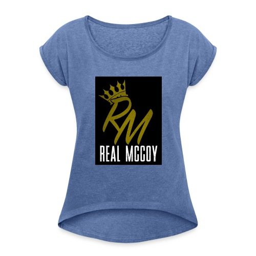 RM LOGO - Women's T-shirt with rolled up sleeves
