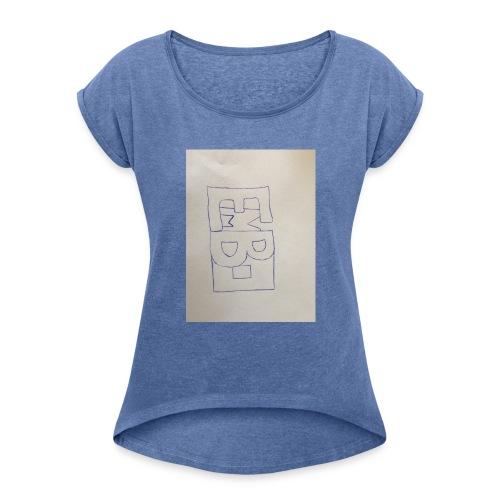 embo - Vrouwen T-shirt met opgerolde mouwen