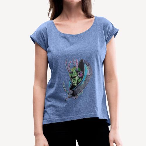 Brainiac - T-shirt à manches retroussées Femme