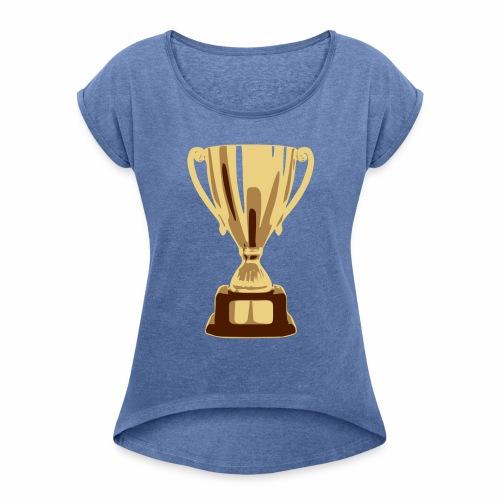 pokal vectorized - Frauen T-Shirt mit gerollten Ärmeln