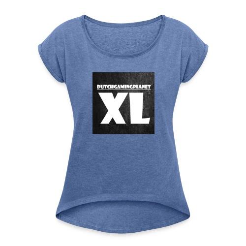 DutchGamingPlanetXL MOK - Vrouwen T-shirt met opgerolde mouwen
