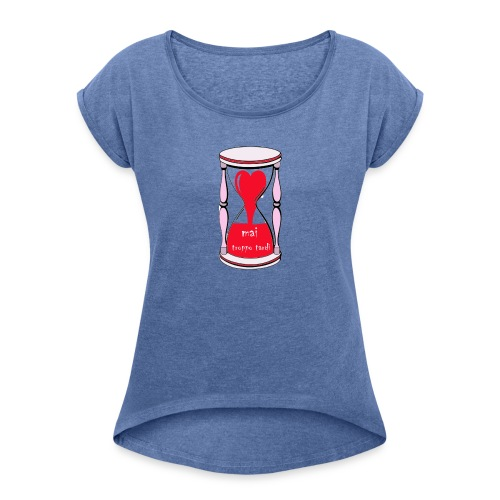 Zeuva - Camiseta con manga enrollada mujer
