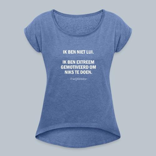 SHIRT 1 ~ Instagram @wijtieners - Vrouwen T-shirt met opgerolde mouwen