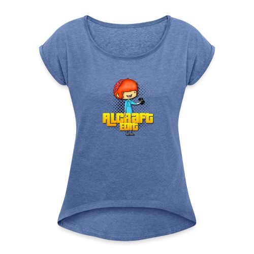 Diseño Simple AlCraft Edit - Camiseta con manga enrollada mujer