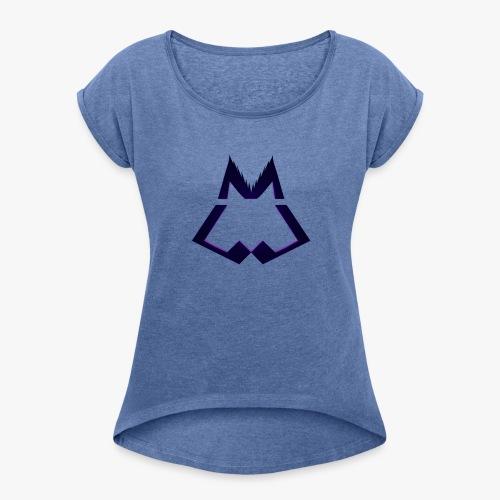 Official WINTERWOLF Season V wolf logo - Vrouwen T-shirt met opgerolde mouwen