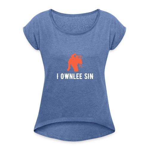 Lee Sin Shadow with name - Frauen T-Shirt mit gerollten Ärmeln