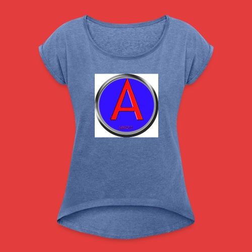 Abnoiz profile merch - Frauen T-Shirt mit gerollten Ärmeln