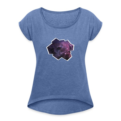 Space window - Women's T-Shirt with rolled up sleeves