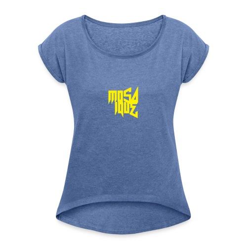 MosaiqueRecords BYellow - T-shirt à manches retroussées Femme
