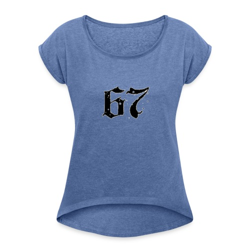 67 - Women's T-Shirt with rolled up sleeves