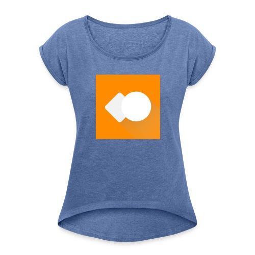 Offizielles Logo! - Frauen T-Shirt mit gerollten Ärmeln