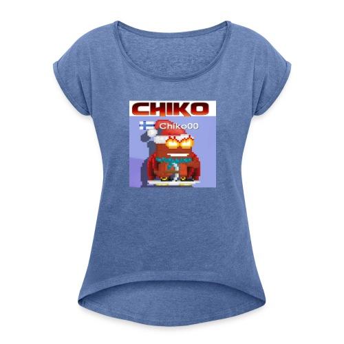 chiko00 fain juttuja :D - Women's T-Shirt with rolled up sleeves