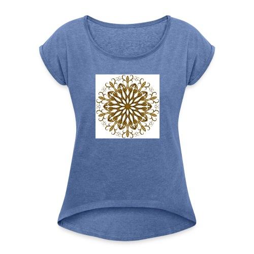 gold-filigree - Frauen T-Shirt mit gerollten Ärmeln