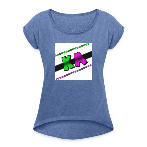 Kevin Alves fan - Women's T-Shirt with rolled up sleeves