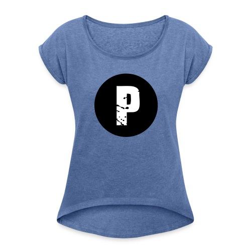 P = PaiiinZz - Frauen T-Shirt mit gerollten Ärmeln