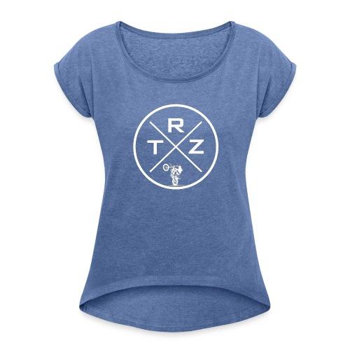 TRZ Logi - Frauen T-Shirt mit gerollten Ärmeln
