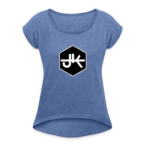 jk logo amk - Frauen T-Shirt mit gerollten Ärmeln
