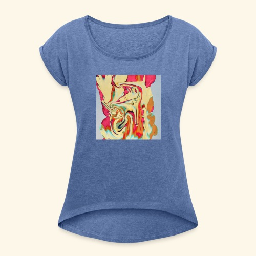 Psychedelic Art 3 - Women's T-Shirt with rolled up sleeves