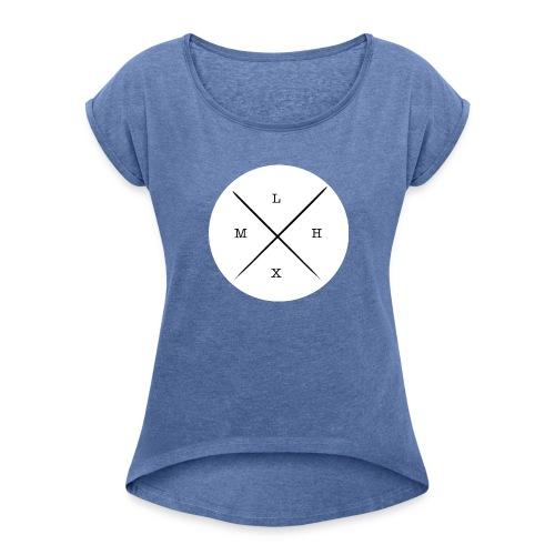 logo_-_copie-page-001 - T-shirt à manches retroussées Femme