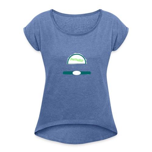 JanValiFresheDinge - Frauen T-Shirt mit gerollten Ärmeln
