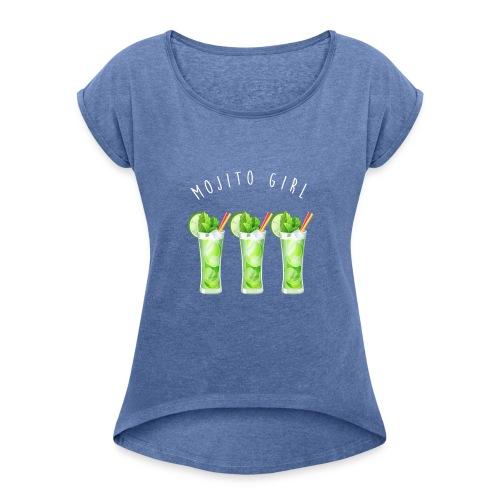 mojito girl - T-shirt à manches retroussées Femme