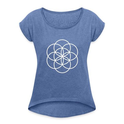 iconsns - Frauen T-Shirt mit gerollten Ärmeln