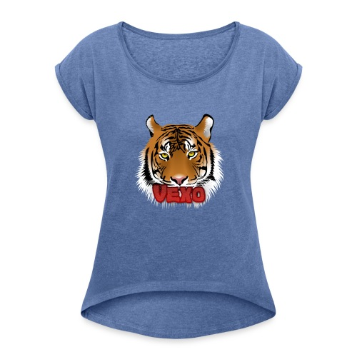 Vexo Logo - Women's T-Shirt with rolled up sleeves