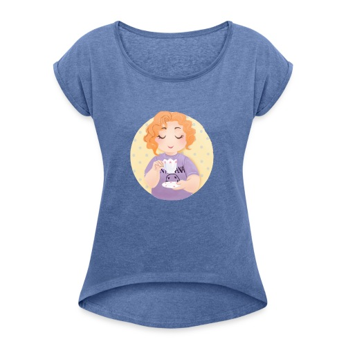 Gingerly Ginger - Women's T-Shirt with rolled up sleeves