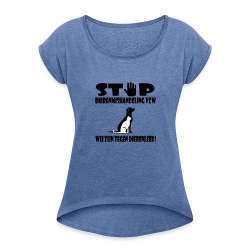 sd vzw - Vrouwen T-shirt met opgerolde mouwen