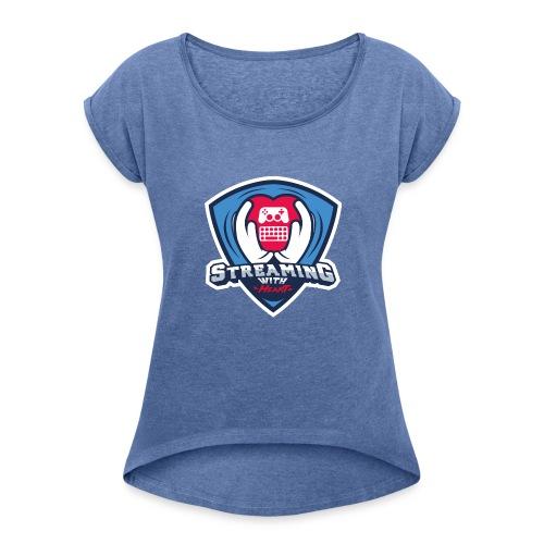 gaming_charity_normal - Frauen T-Shirt mit gerollten Ärmeln