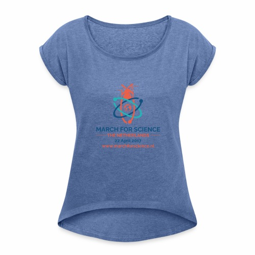 MfS-NL logo light background - Women's T-Shirt with rolled up sleeves
