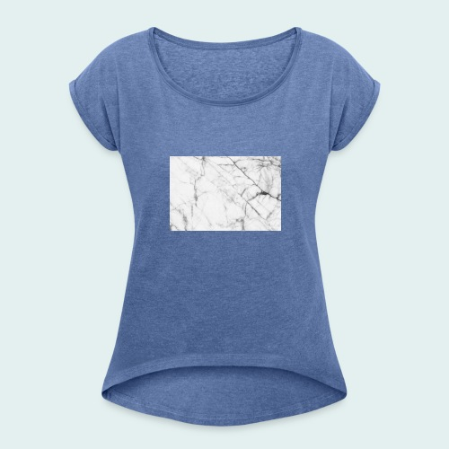 pull marbré - T-shirt à manches retroussées Femme