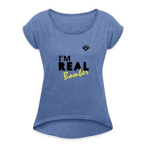 REAL Bomber - Maglietta da donna con risvolti