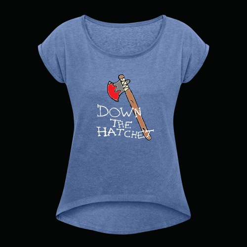 DTH Axe logo T-Shirt - Women's T-Shirt with rolled up sleeves