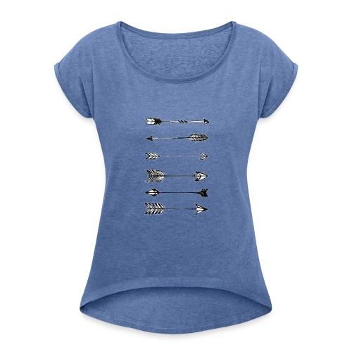pijlen - Vrouwen T-shirt met opgerolde mouwen