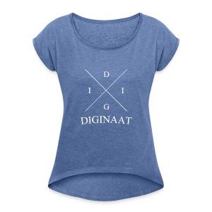 Diginaat - Vrouwen T-shirt met opgerolde mouwen