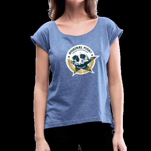Naglfar 3 - Frauen T-Shirt mit gerollten Ärmeln