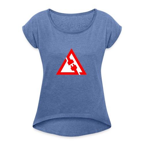lag in rocket league - Vrouwen T-shirt met opgerolde mouwen