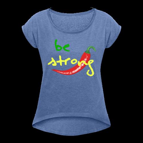 Chilli Collection - T-skjorte med rulleermer for kvinner