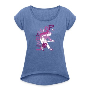 Lindy hop - Women's T-shirt with rolled up sleeves
