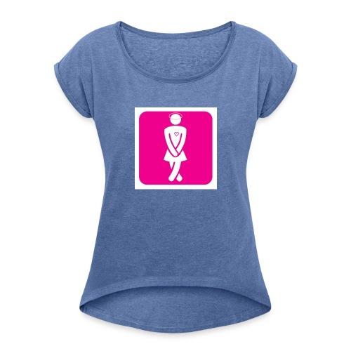Codes_de_meuf - T-shirt à manches retroussées Femme